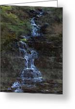 Falls At 6 Mile Creek Ithaca N.y. Greeting Card