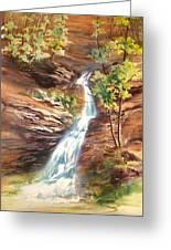 Falls At Hocking Hills Greeting Card
