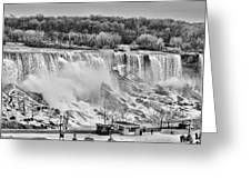Falls Black And White Greeting Card
