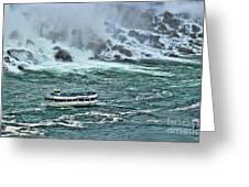 Falls Boat Greeting Card