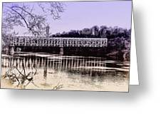 Falls Bridge Greeting Card