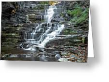 Falls Creek Gorge Trail Ithaca New York Greeting Card