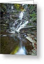 Falls Creek Gorge Trail Reflection Greeting Card