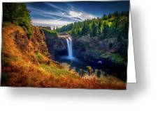 Falls From Up High Greeting Card