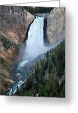 Yellowstone National Park Waterfalls Greeting Card