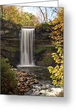 Falls In The Fall Greeting Card
