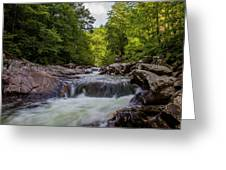 Falls In The Mountains Greeting Card