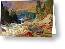 Falls - Montreal River Greeting Card
