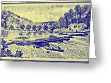 Falls Of The Schuylkill And Fort St Davids 1794 Greeting Card