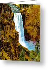 Falls Of The Yellowstone Greeting Card