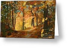 Fall's Radiance In Quebec Greeting Card