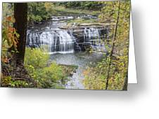 Falls Through The Trees Greeting Card