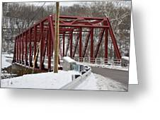 Falls Village Bridge 1 Greeting Card