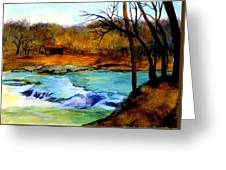 Fallsburg Ky Falls Greeting Card