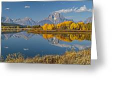 Falltime At Oxbow Bend Greeting Card