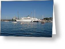 Falmouth Harbour Greeting Card by Rod Johnson