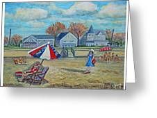 Falmouth Heights Beach On A Fall Afternoon Greeting Card