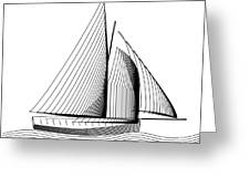 Falmouth Oyster Boat Greeting Card