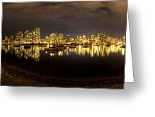 False Creek At Night Greeting Card
