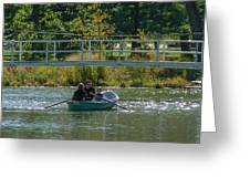 Family Boating If Forest Park Greeting Card