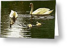 Family Day Out  Greeting Card