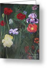 Family Flowers Greeting Card