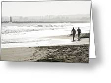 Family Fun At The Beach Greeting Card