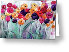 Family Gathering Painting By Lisa Kaiser Greeting Card