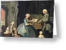 Family Group Near A Harpsichord, 1739 Greeting Card