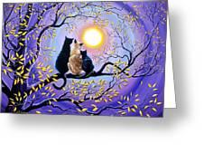 Family Moon Gazing Night Greeting Card