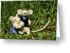 Family Mouse On The Spring Meadow .1. Greeting Card