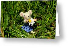 Family Mouse On The Spring Meadow Greeting Card