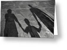 Family Of Shadows Greeting Card