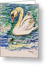 Family Of Swanns  Greeting Card