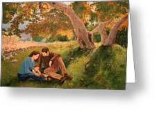 Family Portrait Under A Tree Greeting Card