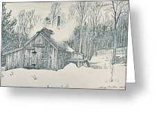 Family Sap House Greeting Card