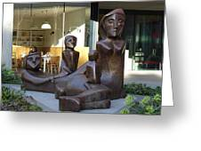 Family Sculpture Greeting Card