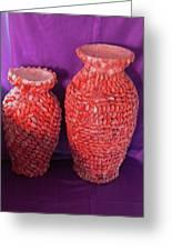 Family Vase Greeting Card by Arlin Jules
