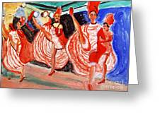 Famous French Cancan Greeting Card
