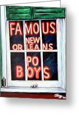 Famous French Quarter Window Sign Greeting Card by Terry J Marks Sr