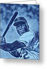 Famous Jackie Robinson Greeting Card