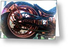 Famous Liberty Bike Copper Ny Greeting Card