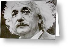 Famous Photograph Of Albert Einstein  Greeting Card