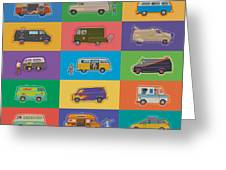 Famous Vans Greeting Card