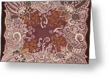 Fancy Antique Lace Hankie Greeting Card