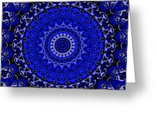 Fancy Cartoon Blues Greeting Card