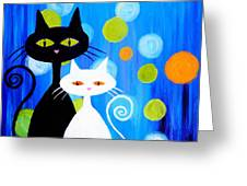 Fancy Cats Greeting Card