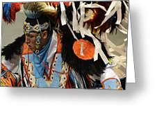 Pow Wow Fancy Dancer 1 Greeting Card