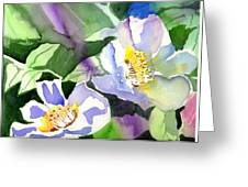Fancy Flowers Greeting Card