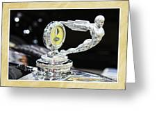 Fancy Framed Hood Ornament Greeting Card